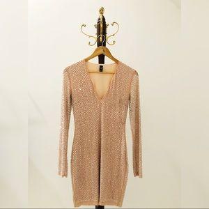 Stunning Nude Bodycon Dress